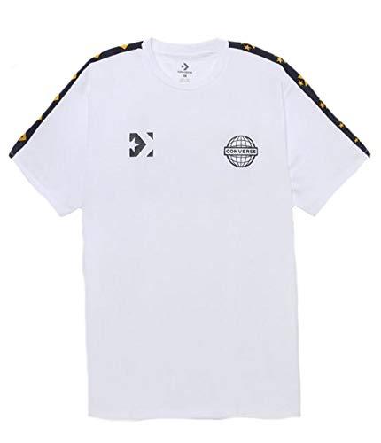 - Converse Men's Colorblock Mesh Logo Short Sleeve Jersey Top (Black/White, Large)