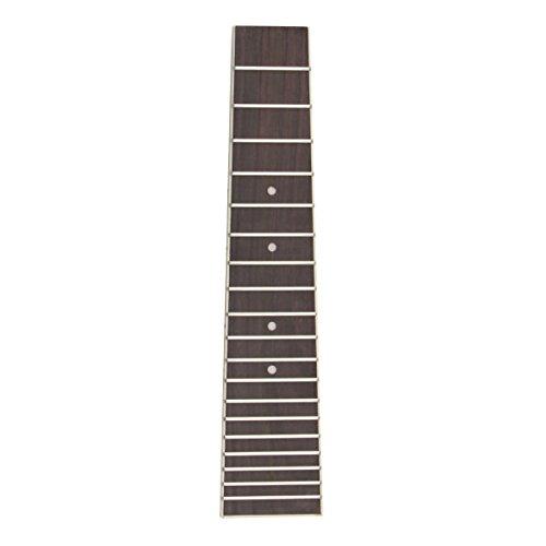 (Kmise Ukulele Rosewood Fretboard Fingerboard for 6 String 28 Inch Uke Ukelele Parts Replacement)