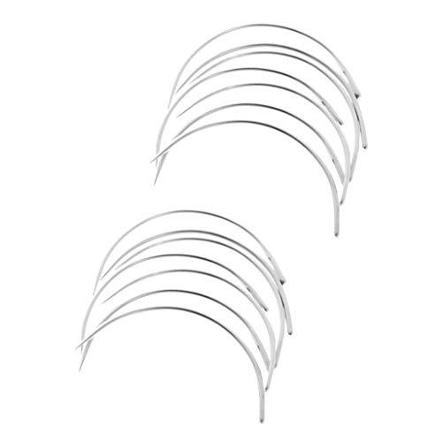 IPOTCH 約50本 7.5cm+6.25cm カーブ針 C型 カーペット キャンバスの商品画像