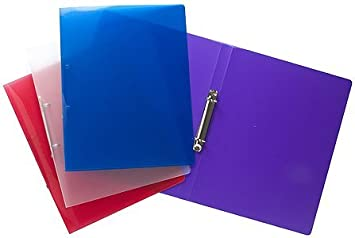 Tiger A4 slim 15mm ringbinder in assorted colours x 1 single ...