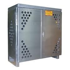 Cylinder Storage Cabinet, 2 LP, Aluminum