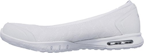 Skechers Relaxed Fit Easy Air Join Me Womens Ballet Flat Skimmers White