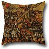 [Oil Painting Miguel Gonzales - La Conquista De México. Tabla XXIII Throw Pillow Case 18 X 18 Inches / 45 By 45 Cm Gift Or Decor For Bedding,pub,home Office,boys,chair,teens Boys - Each] (In N Out Burger Halloween Costume)