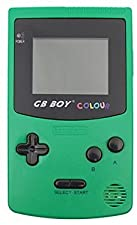 """Gamebound GB Boy Color Gameboy Handheld Game Console 2.7"""" Backlit Screen 66 Built-in Games Solid Green"""