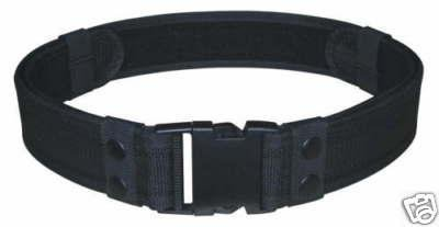 Black Tactical Utility Police Duty Belt Adjust To Size 30-46 Modular Molded Nylon
