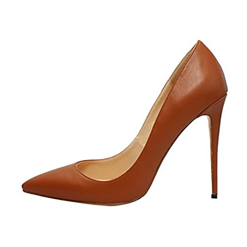 8bb422a9aabf63 Guoar Women s Big Size Stiletto Shoes Pointed Toe High Heels Ladies Solid  Pumps for Work Dress