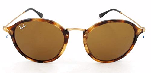 - Ray-Ban RB2447 Round Fleck Sunglasses, Spotted Tortoise/Brown, 52 mm