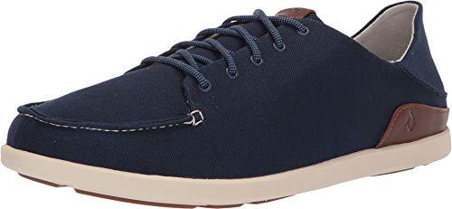 OLUKAI Men's Manoa Sneaker, Trench Blue/Toffee, 13 M US