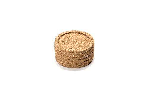 Pack of 12 Noe /& Malu SYNCHKG130715 Round Edges Cork Coasters 4 x 4-1//4 Thick