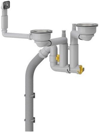 IKEA LILLVIKEN Siphon für 2 Becken Geruchsverschluss