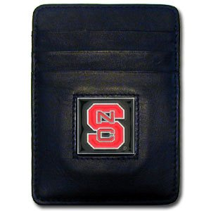 Siskiyou NCAA North Carolina State Wolfpack Leather Money Clip/Cardholder - Nc State Wolfpack Money Clip