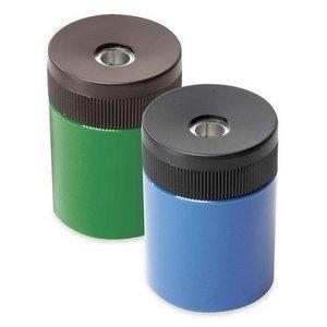 - Staedtler - Cylinder Shaped Pencil Sharpener w/Metal Sharpener, Asst, Sold as 1 Each, STD 51163 by Staedtler