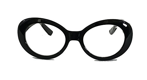 Unisex Thick Solid Frame Cat Eye Fashion Glass P741CL - Glasses Black Thick Frame