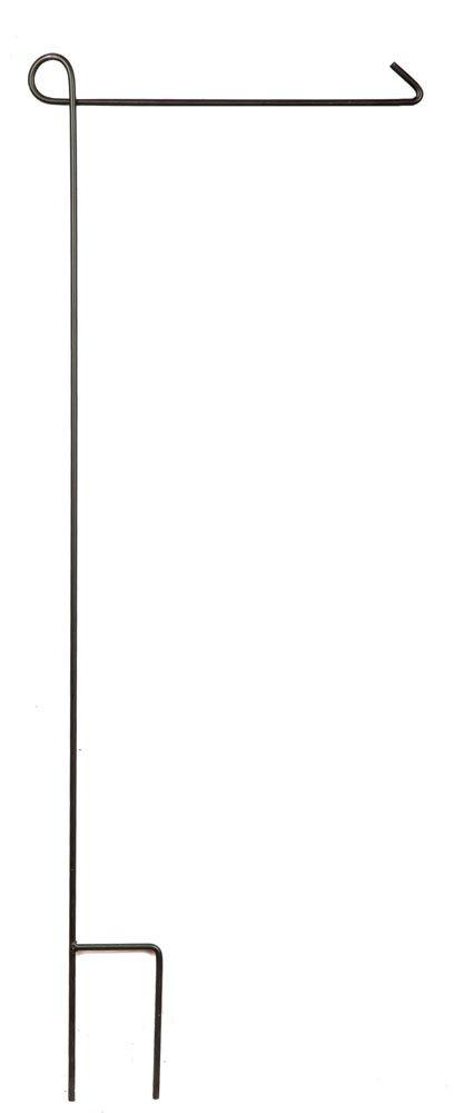 Evergreen Flag Garden 2421000 Garden Flag Pole, 42'' x 0.5'' x 18'', Black