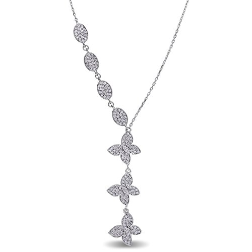 (Diamond Accented Bird Curved Bar Pendant Necklace 18k Rose Gold (0.37ct))