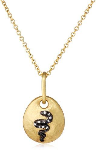 "Sara Weinstock ""Universal Love"" Snake Gold Pendant Necklace"
