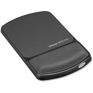 Fellowes Gel Wrist Rest and Mouse Pad with Microban - - Gel 9175101