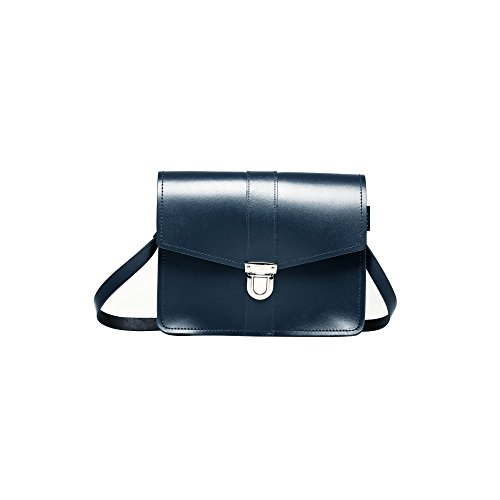 Zatchels - Borsa In Pelle Fatta a Mano - British Made - Donna Blu navy