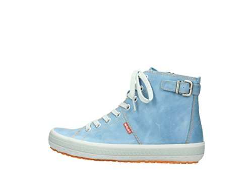 36123 Blue Jeans Leather Richelieus 384 Omoda gq5wcRH7
