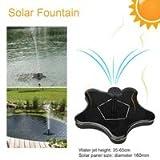 Ghome5 Solar Fountain Pump DC Brushless Motor Water Pump Aquarium Submersible Fountain Rockery Garden Solar Pumps