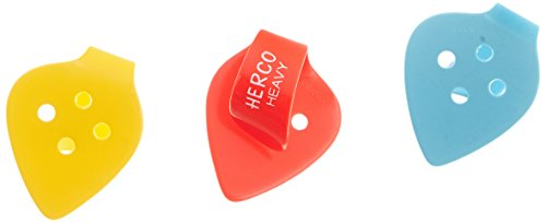 (Herco HE113P Flat Thumbpicks, Heavy, 3/Player's Pack)