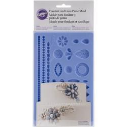 Bulk Buy: Wilton (3-Pack) Fondant & Gum Paste Silicone Mold 5.7in. x 10.6in. Jewelry W2528