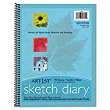 Art1st Sketch Diary, 8-1/2'' X 11'', 60 Lb, 70 Sheets, White By: Pacon