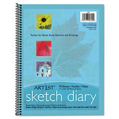Art1st Sketch Diary, 8-1/2'' X 11'', 60 Lb, 70 Sheets, White By: Pacon by Office Realm