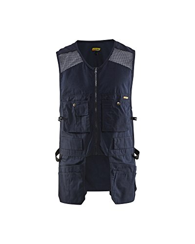 Blaklader US Utility Vest with Mesh for Carpentry Construction (Navy, L) by Blaklader (Image #1)