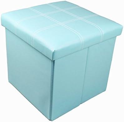 Taburete Asiento GMMH – 38 x 38 x 38 cm Box – Caja Puf Baúl Soporte Banco plegable: Amazon.es: Hogar