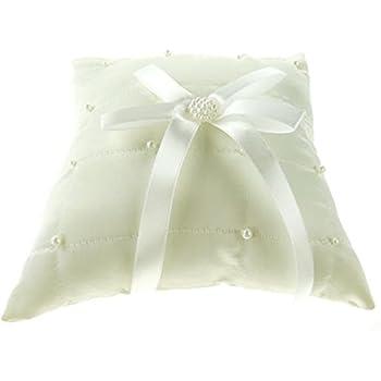 Amazon.com: Anillo de Boda portador almohada 7-Inch ...