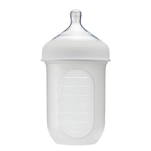 Boon NURSH Reusable Silicone Pouch Bottle, 8 Ounce (Gray)