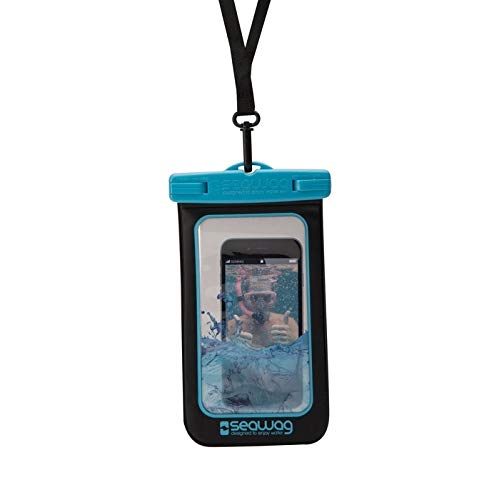 SEAWAG Universal Waterproof Case for Smartphone 5.7' (Black/Blue)