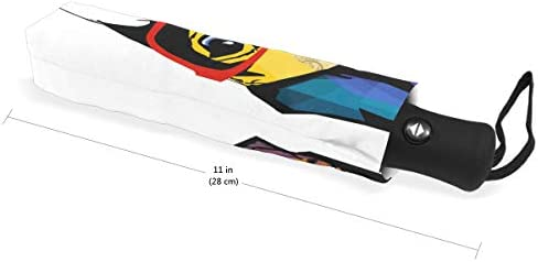 Chovy 折りたたみ傘 軽量 自動開閉 晴雨兼用 レディース 日傘 UVカット 遮光 ワンタッチ メンズ パグ いぬ 犬柄 カラフル 可愛い クール 雨傘 傘 晴雨傘 折り畳み 8本骨 遮熱 丈夫 耐風撥水 収納ポーチ付き プレゼント