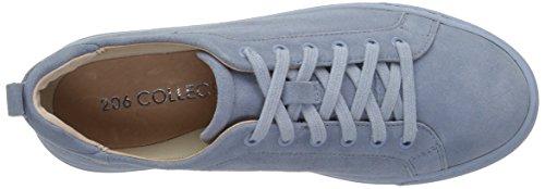 206 Collective Women's Lemolo Lace-up Fashion Sneaker Denim Blue Suede