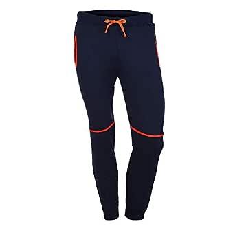 ZODOF Pantalones de Corbata de Colorblock Negro Pantalones de ...