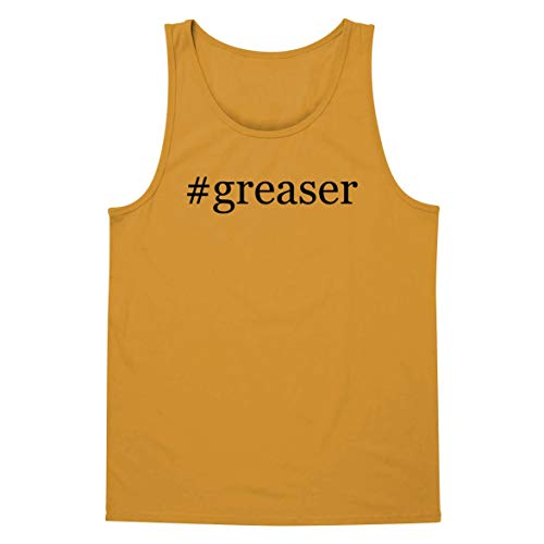 The Town Butler #Greaser - A Soft & Comfortable Hashtag Men's Tank Top, Gold, Small]()