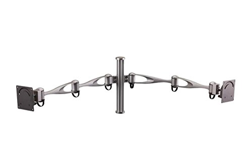 Cotytech Vertical Double Arm Wall Mount for Two Monitors