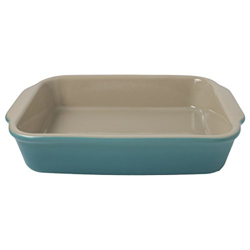 "American Bakeware Barbados Blue Rectangular Casserole Baker 10""x12"", 2.25 quarts, Ceramic Stoneware Made in the USA"