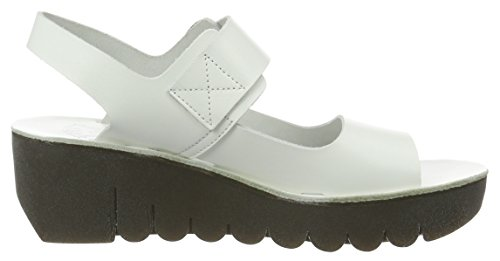 Fly London Women's Yail907fly Wedge Sandals Off White (Off White 008) UIzhdntf