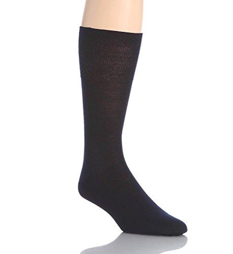 Falke Men's Airport Wool & Cotton Socks, Dark Navy, Blue, 45-46