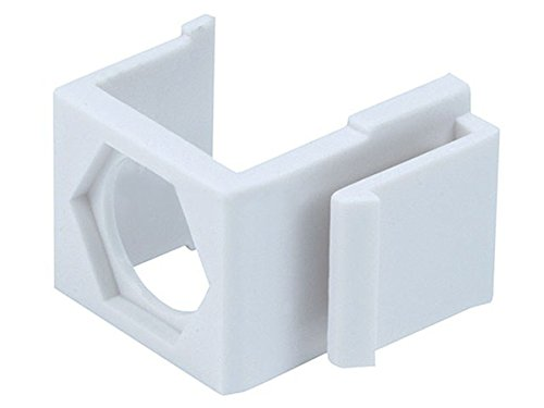 (Monoprice Blank Insert for F type connector - 10pcs/Pack (White))