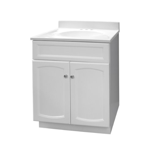 Foremost Chrome Vanity - Foremost HEW2418 Heartland 24-Inch White Vanity with Top