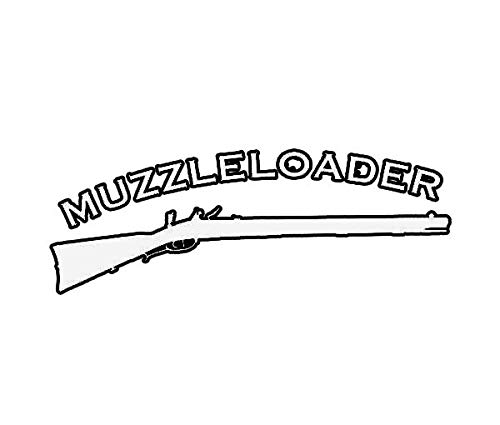 ION Graphics Muzzleloader Sticker Die Cut Decal Gun Powder Black Hunting 5