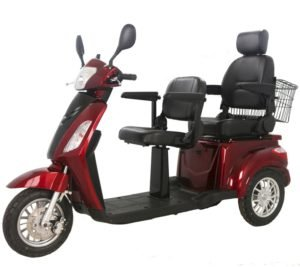 Two Seats Tandem Adult Electric Mobility Scooter, Two Passengers