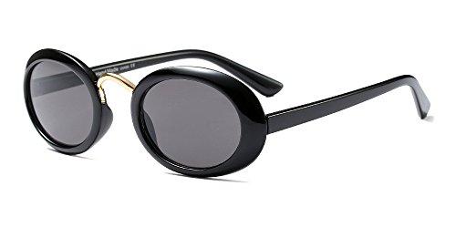 Donna Uomo Classico Nero Ovali Bozevon Occhiali grigio Retrò Moda Sole Unisex Da Per v5qPwR5zx