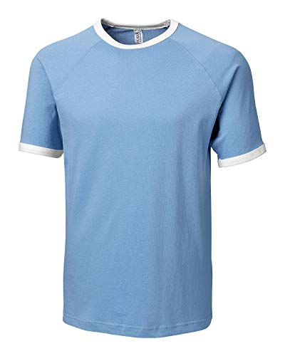 Clique Men's Playlist Ringer Tee-Light Blue-S (Blue Ringer)