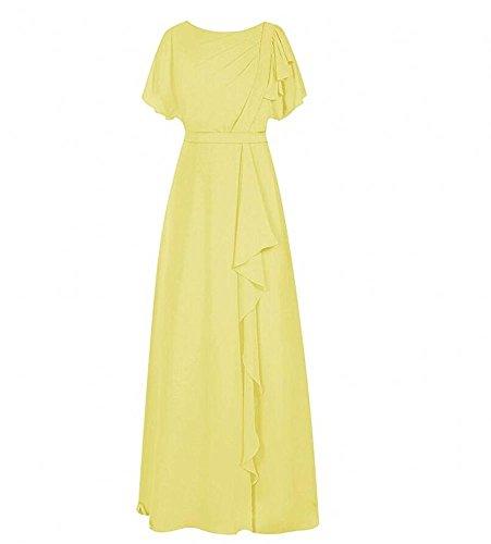 KA Beauty - Vestido - trapecio - para mujer amarillo