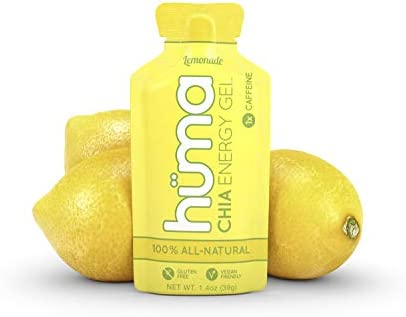 Huma Chia Energy Gel, Limonada, 12 Paquetes, 25mg Cafeína - Geles ...