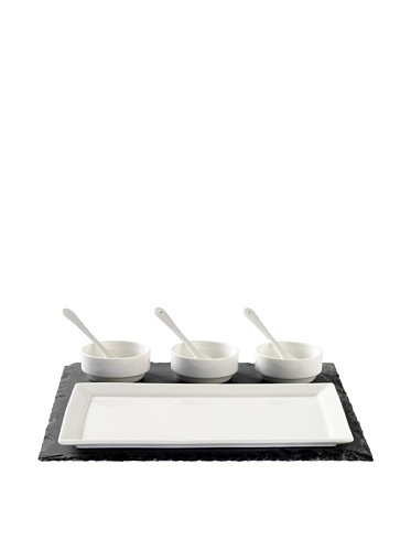 (Luigi Bormioli Slate & Porcelain 8-Piece Appetizer Set)